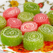 Colorful fruit sugary candies close-up — Stock Photo #13450453