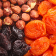 Dried fruits and hazelnuts backgtound Dried fruits and hazelnuts backgtound — Stock Photo