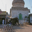 Stock Photo: Streets and buildings of Bijapur, Karnataka, India