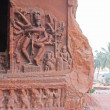 Sculpture at entrance of Cave at Badami, Karnataka, India, Asia - Stock Photo