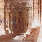 Sculpture at entrance of Cave at Badami, Karnataka, India, Asia — Stock Photo #13615512