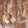 Stock Photo: Sculpture at entrance of Cave at Badami, Karnataka, India, Asia