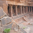 Sculpture at entrance of Cave at Badami, Karnataka, India, Asia  — Stock Photo