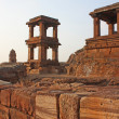 Stock Photo: Upper Shivalayon top of northern rocky hill in Badami, Karnataka, India, Asia