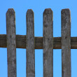 Grass fence and sky landscape — Stock Photo
