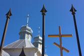 Ortodox Church , Hodosovka , Kiev oblast, Ukraine — Stock Photo