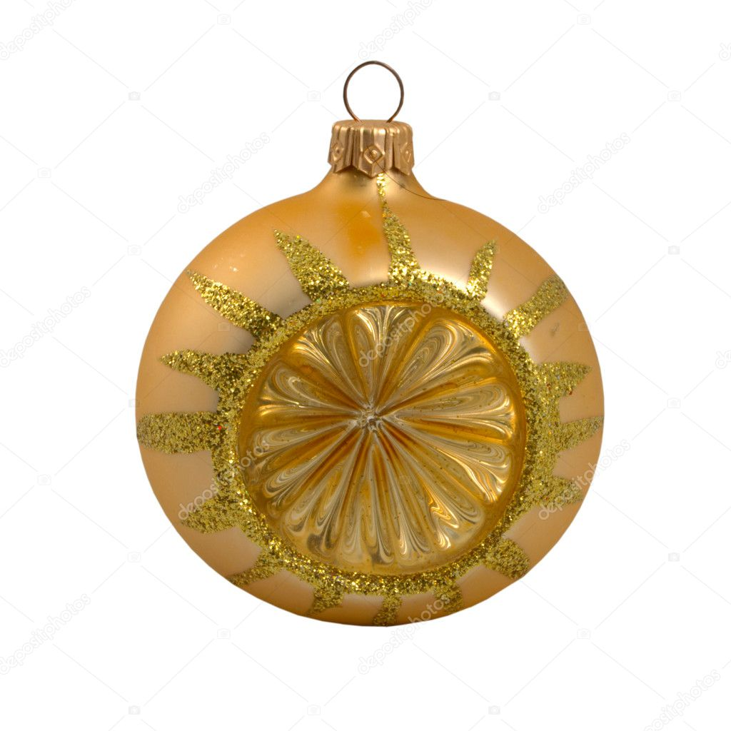 Gold Christmas Toy Ball  — Stock Photo #13887053