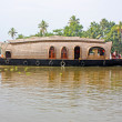 Houseboat in backwater of Kerala — Stock Photo