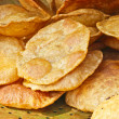 Puri (poori) , tasty Indibread, on copper pan — Stock Photo #21628725