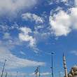New mosque under blue sky with clouds , Eminonu,Istanbul — Stock Photo