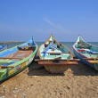 Fishermens boats taken in Kanyakumari — Stock Photo