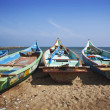Stock Photo: Fishermens boats taken in Kanyakumari