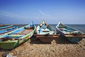 Fishermens boats taken in Kanyakumari — Stock Photo
