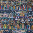 Stock Photo: Colorful reliefs of Hindu gods in temple of Meenakshi