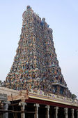 Meenakshi hindu temple in Madurai, — Stockfoto