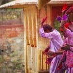 celebración del Holi — Foto de Stock