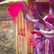 Holi celebration — Stock Photo