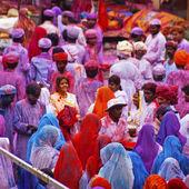 Holi viering — Stockfoto