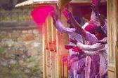 празднование холи — Стоковое фото