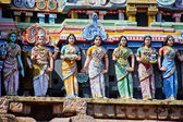 Architecture at finest in the Chidambaram temple — Stockfoto