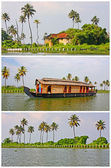 Backwaters of Kerala, set of views — Stock Photo