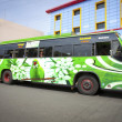 Typical colourful bus of Tamil Nadu - Stock Photo