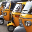 Stock Photo: Auto rickshaw taxis