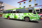 Typical colourful bus of Tamil Nadu — Stock Photo