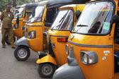 Auto rickshaw taxis — Stock Photo