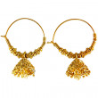 Traditional indian earrings — Stock Photo