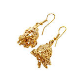 Traditional indian earrings — 图库照片