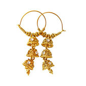 Traditional indian earrings — Photo