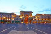 Vittorio Emanuele II Gallery in Milan, Italy — Stock Photo