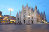 Cathedral Dome taken Milan in the evening, Italy — Stock Photo