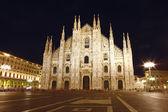 Kathedraal koepel genomen van milaan in de avond, italië — Stockfoto