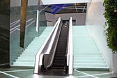 Two escalators in new modern building — Stock Photo
