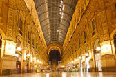 Vittorio Emanuele gallery taken in Milan, Italy — Stock Photo