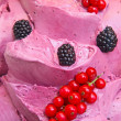 Ice cream with fresh berries — Stock Photo