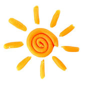 Plasticine sun — Stock Photo