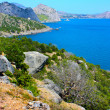 Amazing landscape of the Black Sea and the Karadag mountain in Crimea, Ukraine — Stock Photo