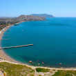 Amazing landscape of the Black Sea and the Karadag mountain in Crimea, Ukraine — ストック写真