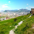 Genuese fortress in Sudak taken in Crimea, Ukraine, May — Stock Photo