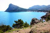 Amazing landscape of the Black Sea and the Karadag mountain in Crimea, Ukraine — Stock Photo