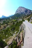 The Crimea mountains landscape taken in Ukraine in Sudak — Stock Photo