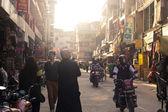 Busy Indian Street Market — Stockfoto