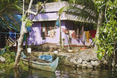 Houseboat in backwater of Kerala , India — Stock Photo