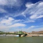 Budapest bridge — Stock Photo
