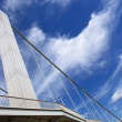 Budapest city, bridge and sky — Stock Photo #26892389