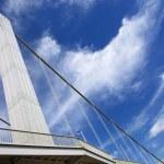 Budapest city, bridge and sky — Stock Photo