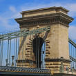 Szechenyi Chain Bridge, Budapest, Hungary  — Stock Photo